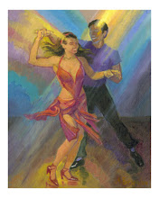 Salsa Dancers Poster