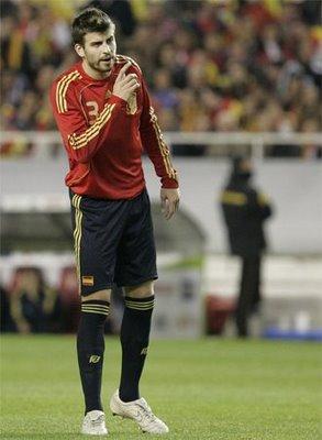 defender Gerard Pique.