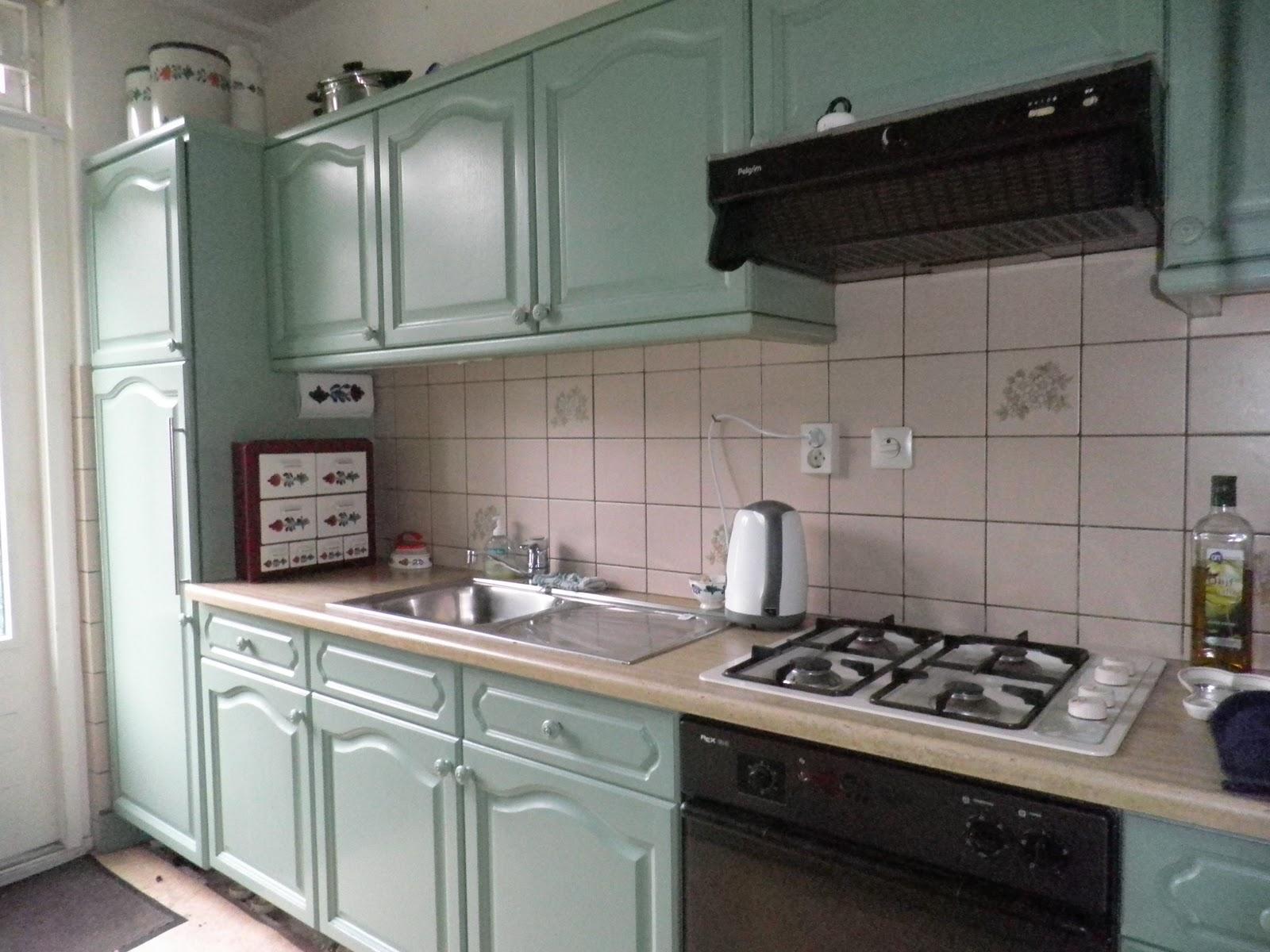 Hoe Een Eiken Keuken Schilderen : Ikea kasten waren donkergroen en had alles in ??n keuken geverfd.
