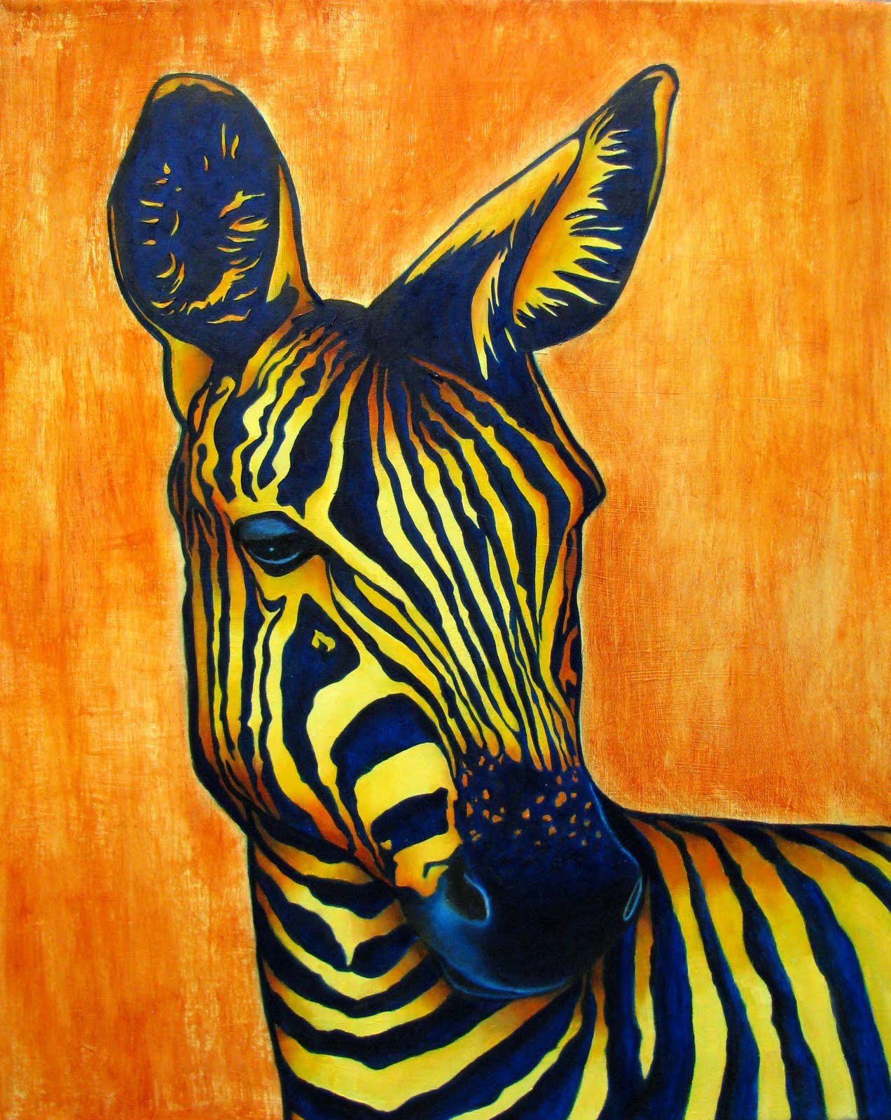 zebra oil painting - photo #30
