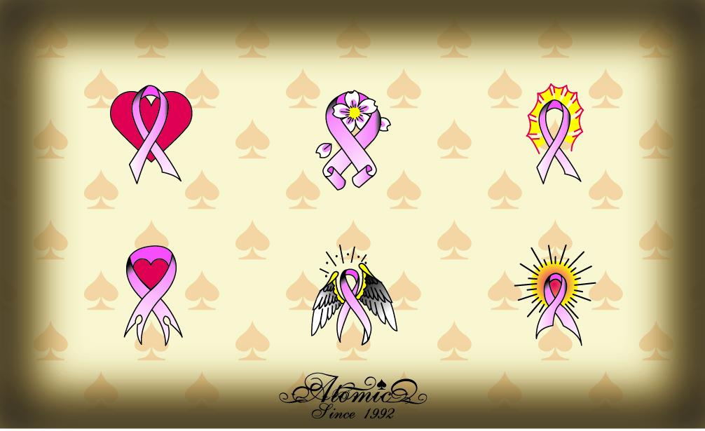 design from any of our pre-designed pink ribbon tattoos for only $60.