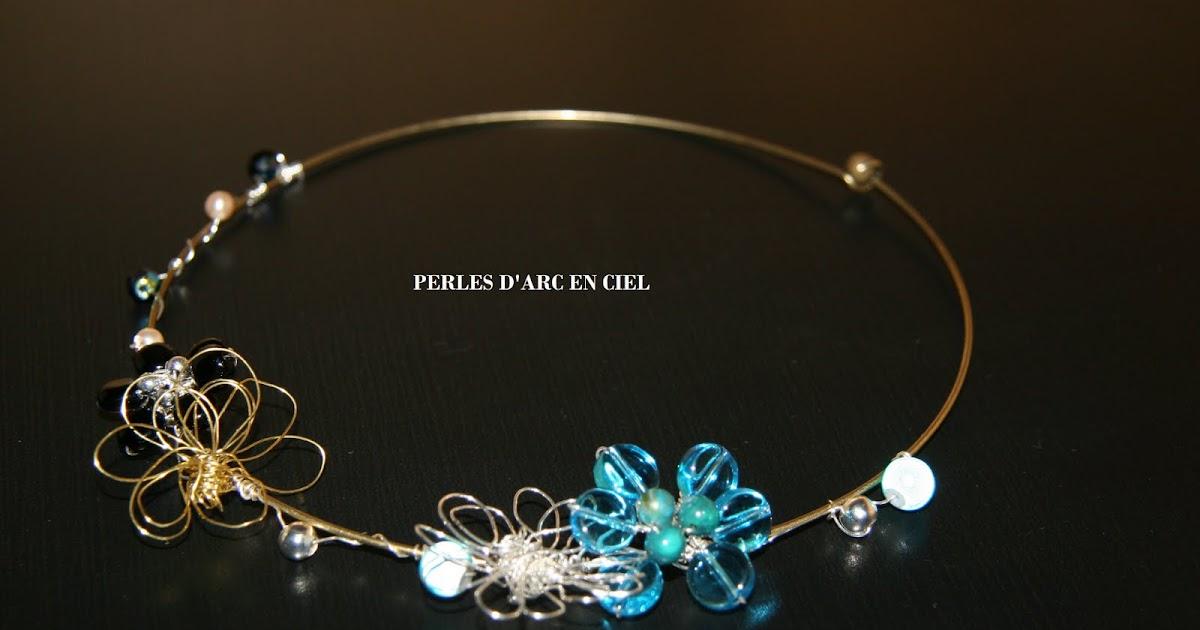 perles d 39 arc en ciel collier fleurs en fil de cuivre. Black Bedroom Furniture Sets. Home Design Ideas