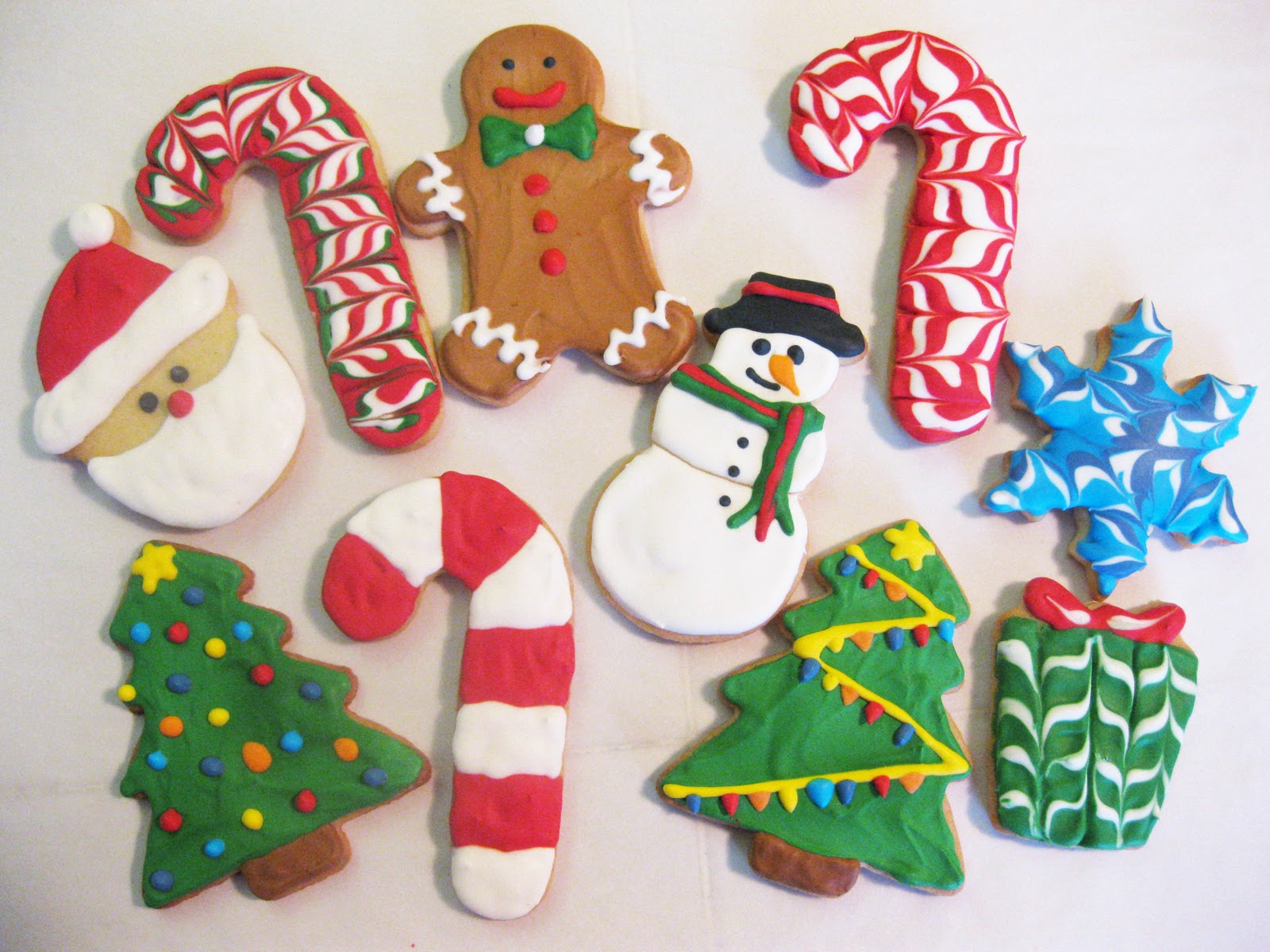christmas cookies rolled sugar cookies - Decorated Christmas Sugar Cookies
