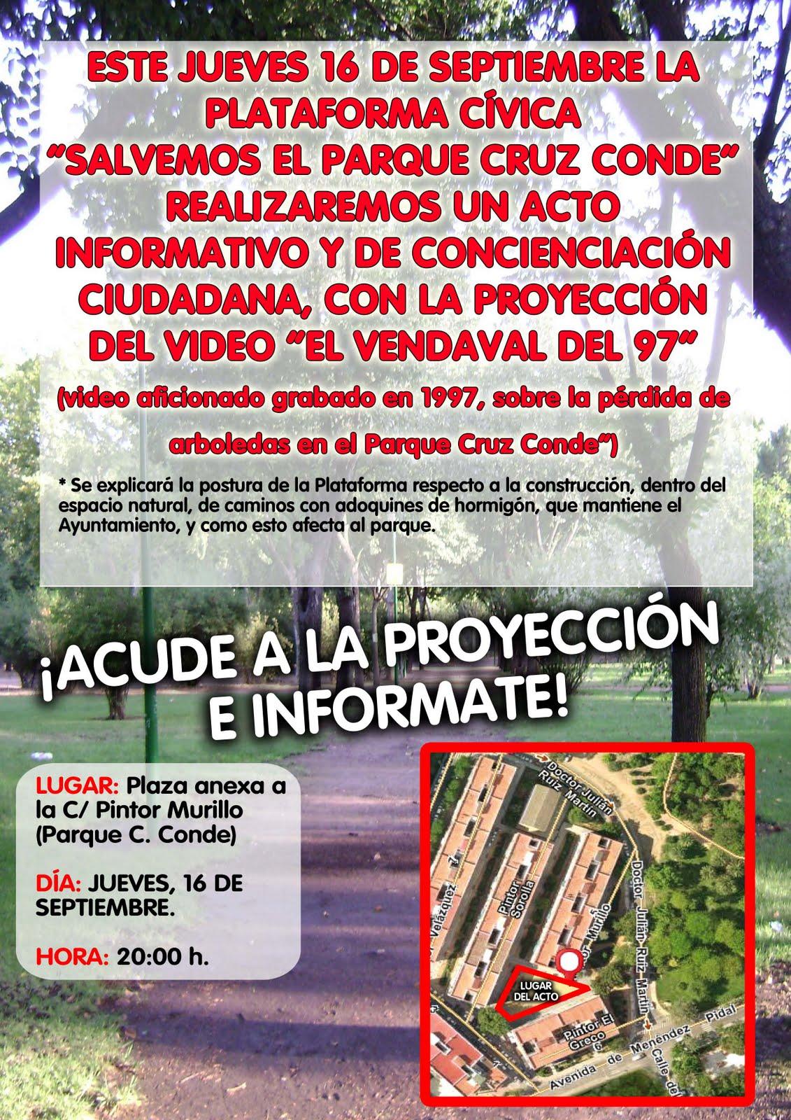 Circuito Parque Cruz Conde Cordoba : Salvemos el parque acto informativo