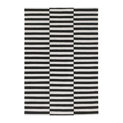 The Glam Lamb That Black And White Striped Rug