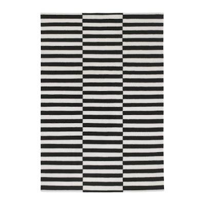 The glam lamb that black and white striped rug - Black white striped carpet ...