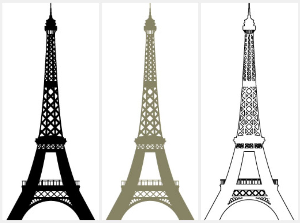 Small Eiffel Tower Wall Decor : Wall decor eiffel tower simple home decoration