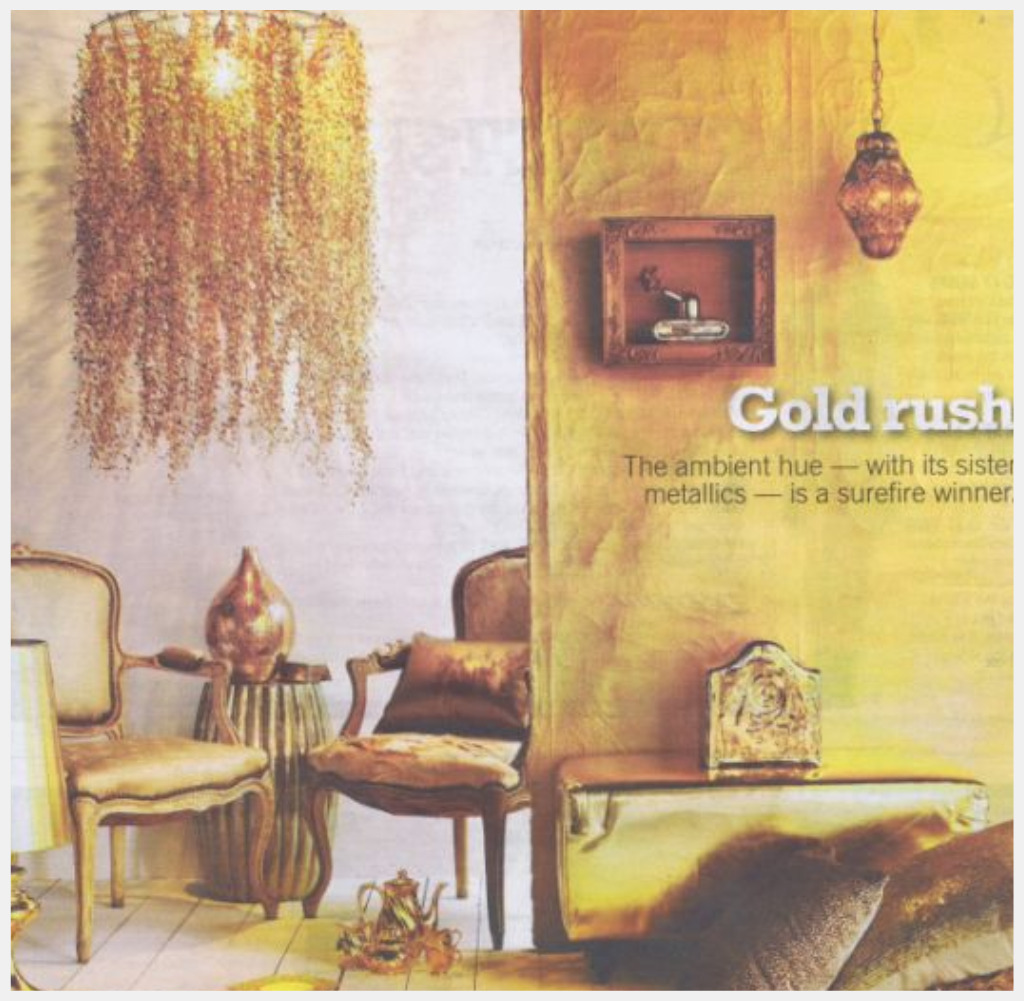 InteriorInstyle Blog: \'GOLD RUSH\'. DECORATING IDEAS FROM SAVVY ...