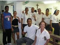 Miembros del PLNC de Antilla en una Misa en Holguin