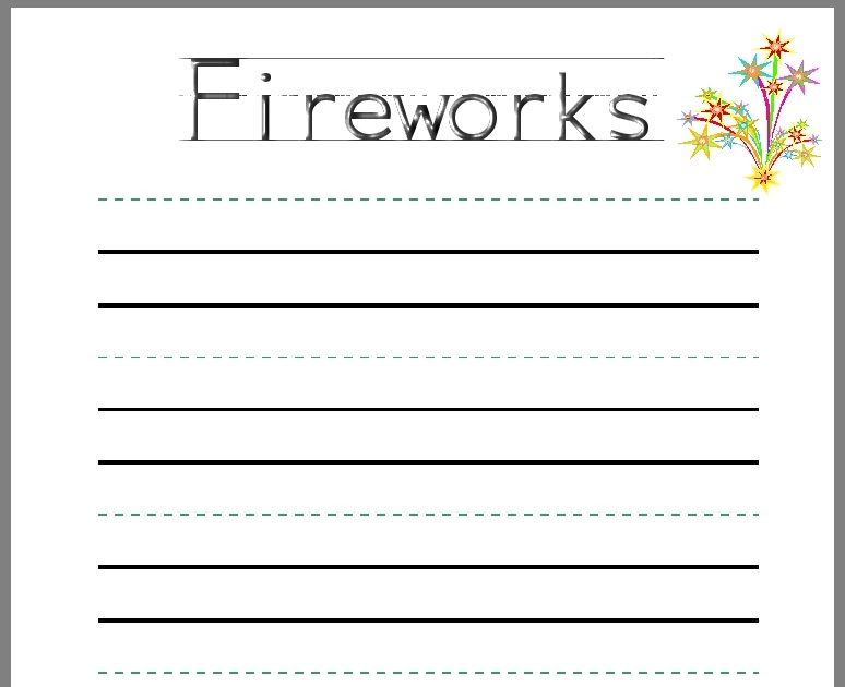 debbie u0026 39 s resource cupboard  firework writing frame for infants