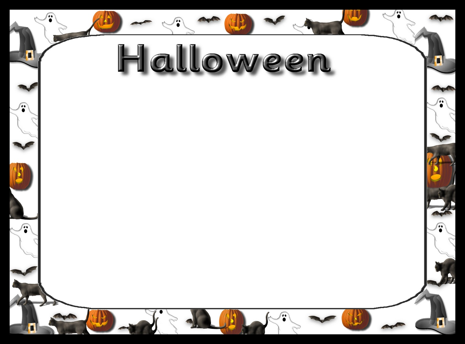 Debbies resource cupboard halloween decorated writing frame halloween decorated writing frame jeuxipadfo Choice Image