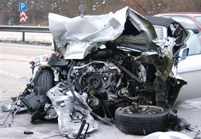 Crash BMW AUTOBAHN