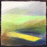 Col des Aravis étude Ia crayons de couleur colored pencils paysage landscape