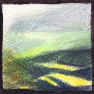 Col des Aravis étude Ic crayons de couleur colored pencils paysage landscape