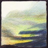 Col des Aravis étude Id crayons de couleur colored pencils paysage landscape