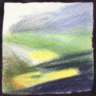 Col des Aravis étude Ie crayons de couleur colored pencils paysage landscape