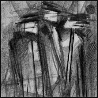 De très vieilles ombres sont de retour et nous fixent sans trembler graphite figure Patrick Chamoiseau