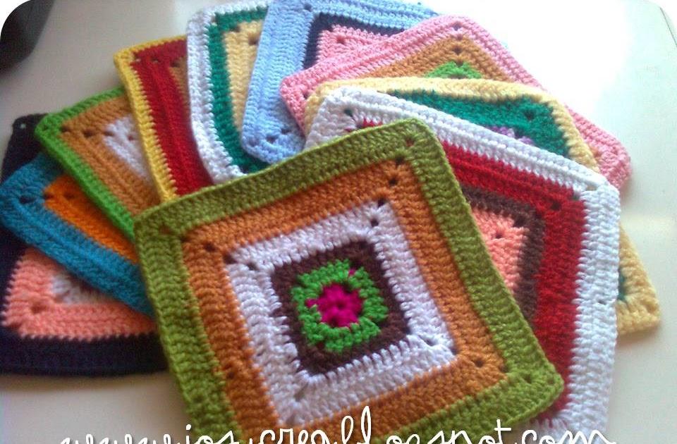 Josycrea tejido a crochet y m s cuadraditos a - Cuadraditos de crochet ...