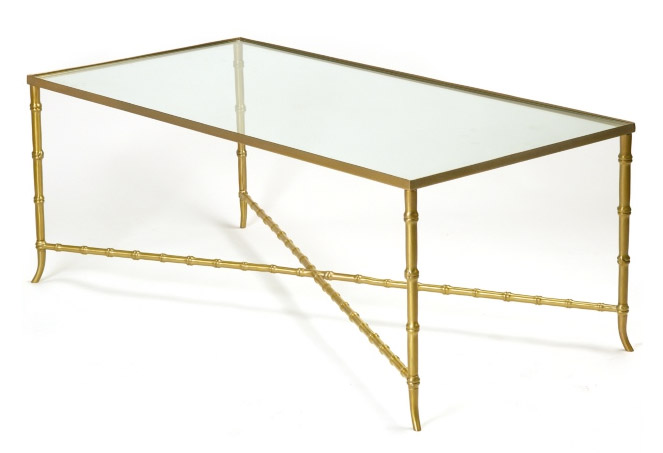 Aesthetic Oiseau Brass Bamboo Coffee Table Dream - Bamboo end table glass top