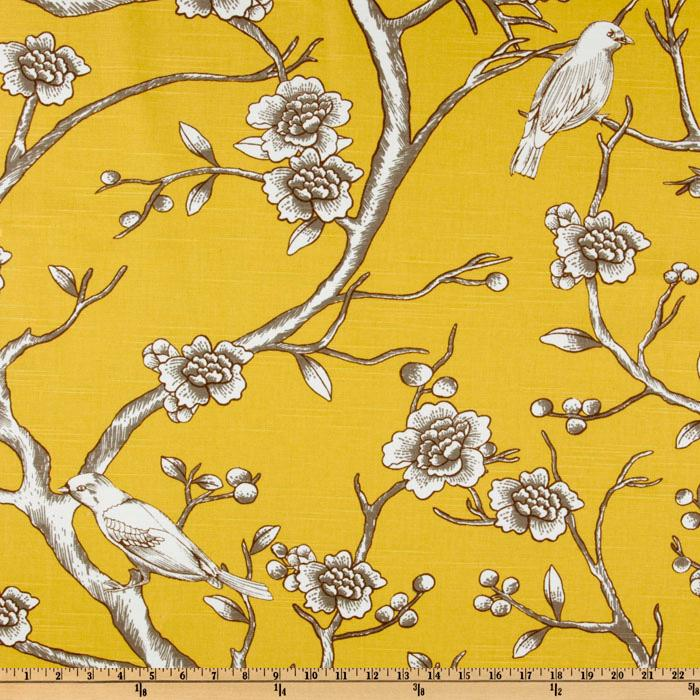 came across the most perfect specimen of yellow Chinoiserie fabric ...