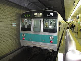 東京メトロ千代田線 霞ヶ関行き4 JR東日本203系(平日2本運行)