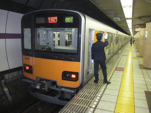 東京メトロ半蔵門線 半蔵門行き3 東武50050系(平日3本運行)