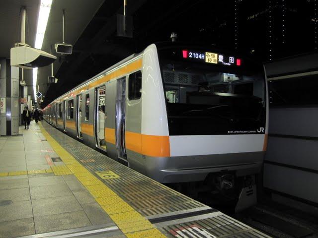 中央線各駅停車 豊田行き E231系(平日6本運行)
