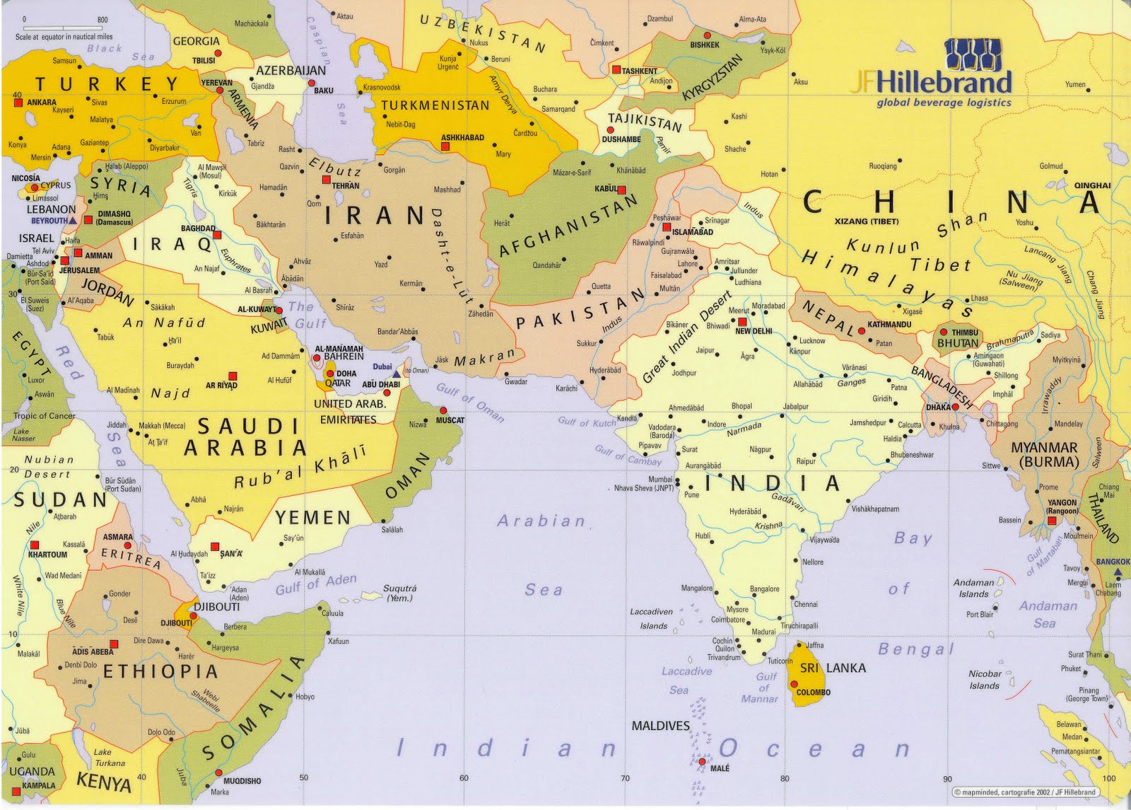 Mapas De Medio Oriente
