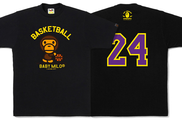 "f7d0ad9b55f Bape Store New York 6th Anniversary T-Shirts. A Bathing Ape Baby Milo ""Go  LA"" T-shirt ."