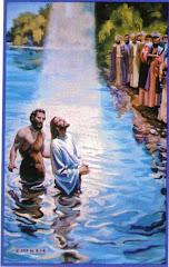 Jesus es bautizado