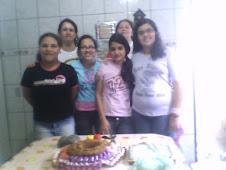 Mutual: fizemos bolo, e trabalhos manuais! Bruna, eu, Tamiris, Vanessa, Constância e Tauny. - 2008