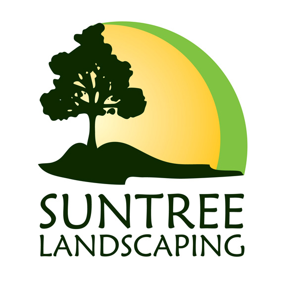 omecca custom graphic design: SunTree Landscaping Logo