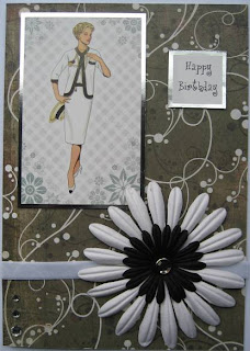 Hunkydory die cut toppers - elegant ladies - gorgeous gingham