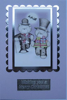 Christmas card with Hunkydory die cut toppers