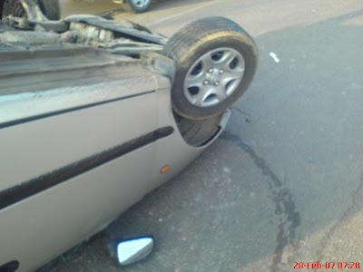 car accident Kodapur Madhapur Hyderabad