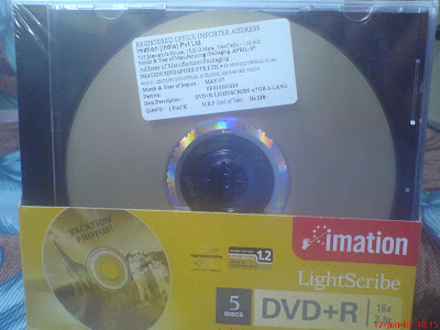 Imation lightscribe DVD R