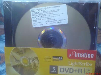 Imation lightscribe DVD R