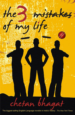 the 3 mistakes of Chetan Bhagat book cover page