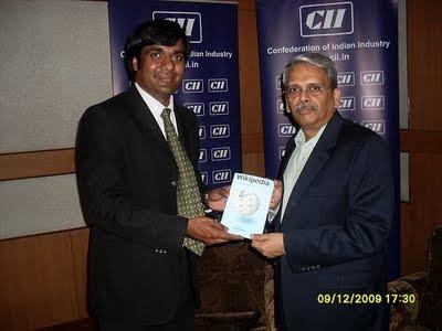 Kiruba Shankar and Infy MD K Gopalahrishnan releasing book