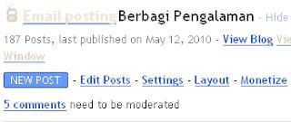 Moderasi Komentar Blogspot