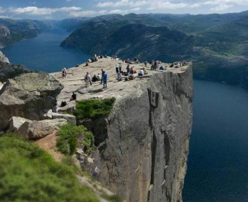 mount, Mountains, Lake, sunset, Noruega tour and tourism