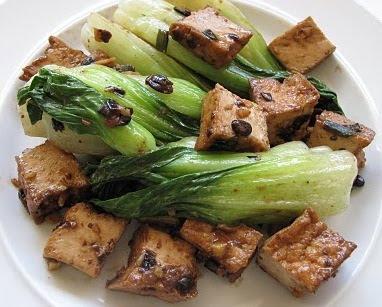 Stir Fried Tofu in Black Bean Sauce