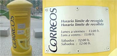 Correus, galego, bústia