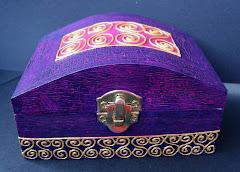 Cutiuta pentru bijuterii pictata manual