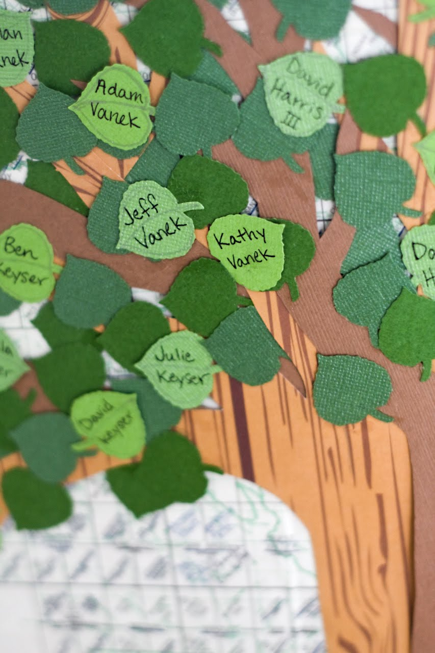 How to scrapbook family tree - I Used The Martha Stewart Leaf Punch To Make All The Leaves And Designed The Tree S Branches And Roots With Scrapbook Paper