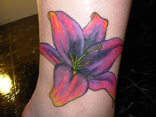 Flower Tattoos foot