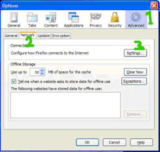 Setelah itu klik Manual Proxy Configuration, isi HTTP proxy dengan