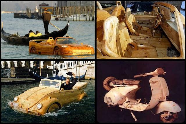 Obras del artesano Livio De Marchi de Venecia