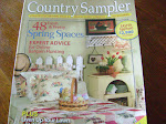 Amy&#39;s vintage cottage featured in the march 2005 issue of country sampler magazine