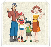 A esquerda está seu pai Norman, depois dela está seu irmãozinho Max e sua .